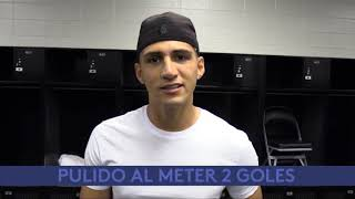 Delantero Pulido al anotar 2 goles para Sporting Kansas City