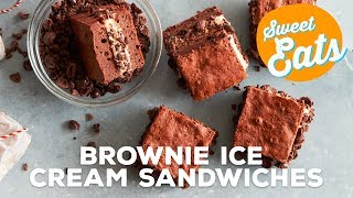 Mocha Brownie Ice Cream Sandwiches | Food Network