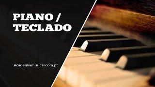 Escalas no piano - Escala de Dó maior