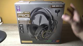 Vidéo-Test : Plantronics RIG 500 Pro HC Casque Gaming Headset PC/PS4/One: Unboxing & Test Video Review FR HD