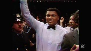 Muhammad Ali hace su entrada en Wrestlemania I