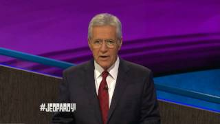 Alex Trebek drops an A Bomb on Jeopardy!