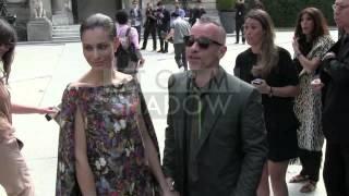 Eros Ramazzotti and Marica Pellegrinelli in LOVE at Valentino Fashion Show in Paris