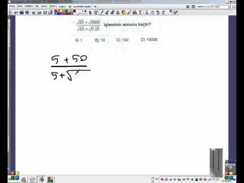 8.Sınıf Matematik Kareköklü Sayılar Test-4