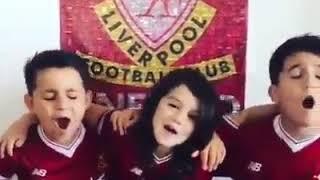Kids Liverpool sing a song of we've got Salah..