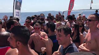 Dj Milana on the boat 15.07.2017 ibiza Spain