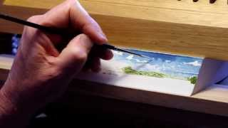 Fantastically Fast Fore-edge Painting by Stephen Bowers