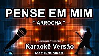 """Pense em mim """"Versão Arrocha"""" Karaoke Leandro e Leonardo"""