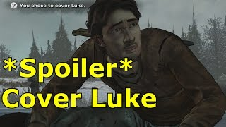 Cover Luke Outcome Luke Dies Death The Walking Dead Episode 5 Gameplay Let's Play No Going Back