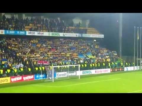 Молдова – Україна 0:0. 12.10.2012. Гімн. З центральної трибуни.