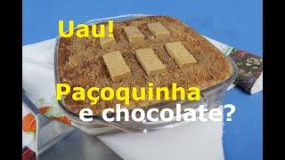 O melhor Pavê de Paçoca e Chocolate (Este é pra ver e pra comer)