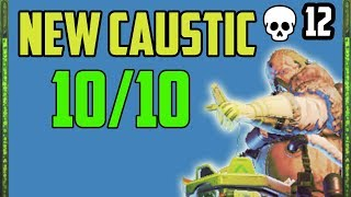 New Caustic Is Insane! - Winning the game with his ult after being knocked