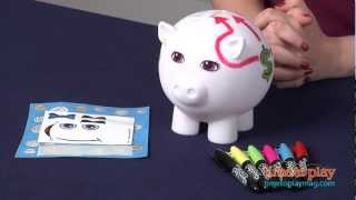Color Blanks Piggy Bank from RoseArt