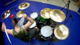 Jonathan Landry   Travis Barker   Let's Go Drum cover