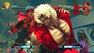 Violent Ken vs Evil Ryu USFIV Hardest Difficulty