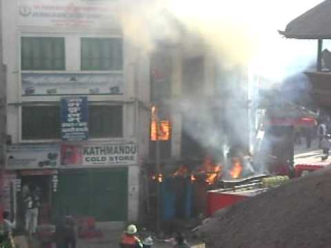 Fire In Durbar Square/Nepal