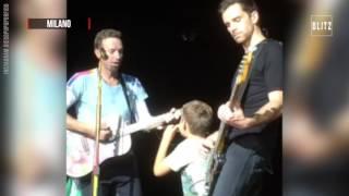Coldplay Milano, sul palco a 9 anni Giacomo è la star di San Siro