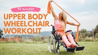 Daily wheelchair workout - upper body, beginner , 10 minutes