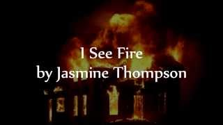 I See Fire  Ed Sheeran The Hobbit- The Desolation of Smaug (Cover By Jasmine Thompson) - Lyric Video