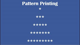 C Practical and Assignment Programs-Pattern Printing 8 width=