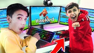Wireless Keyboard Prank On Little Brother While Playing Fortnite