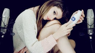 ASMR OMG!😆 LEG SHAVING! 🛀The most common relaxing procedure by women ♥