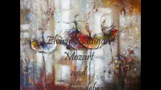 Mozart / Clayderman - Elvira Madigan /  Irene Gendelman - paintings