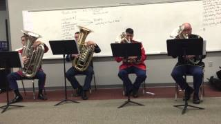 Holst Suite in F, Movement II, Song Without Words ~ The American Tuba Quartet
