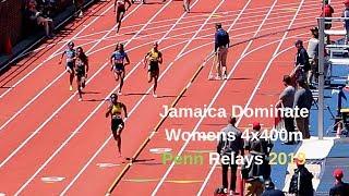 Jamaica🇯🇲 vs USA🇺🇸 Women's 4x400m Penn Relay 2019