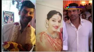 Actor Vikram's Daughter Engagement with DMK Leader M. Karunanidhi's Grandson width=