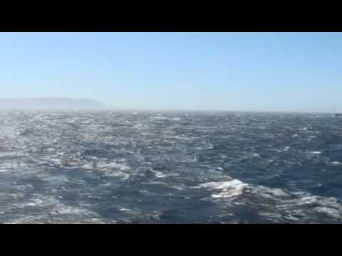 Sailing through Strait of Gibraltar on MV Discovery