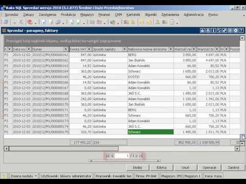 Stronicowanie danych w programie RAKSSQL