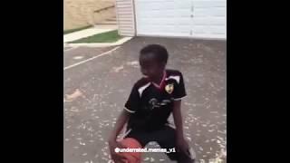 Black kid dancing with basketball meme