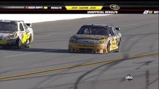 2009 NASCAR Talladega Finish Mark Martin Flips (Live)