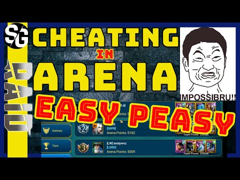 RAID SHADOW LEGENDS | HOW TO CHEAT IN ARENA! EASY PEASY!