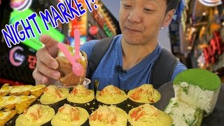 Korean NIGHT MARKET Food Tour in Seoul South Korea! width=