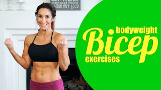 Bicep Exercises Using Your Own Body Weight   Natalie Jill