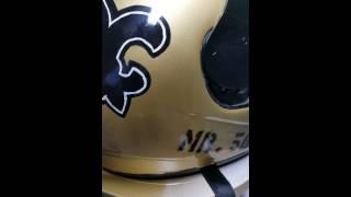 Custom Painted Saints Motorcycle Helmet
