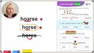 Sight Words: family, horse, house, play