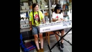 Piano buskers in asheville