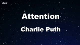 Attention - Charlie Puth Karaoke 【No Guide Melody】 Instrumental