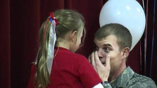 TISSUE REQUIRED VIDEO - Soldier Surprises Daughter at School!