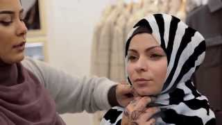 Live Hijab Tutorial with Habiba Da Silva - at Aab Flagship Boutique London