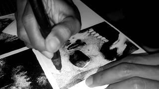 Pointillism - Tengkorak 3