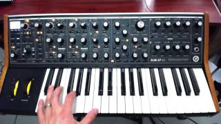 Moog Sub 37 settings for Hillsong's 'Let there be Light' album