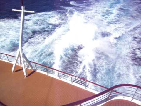 The Explorer at 29 knots of the coast of South Africa
