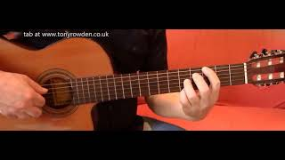 Let It Be - Beatles fingerstyle FREE TAB www.tonyrowden.co.uk