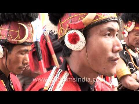Phom Nagas' dance troupe