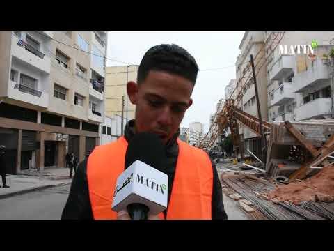 Video : Chute d'une grue à Casablanca : le témoignage poignant d'un ouvrier du chantier