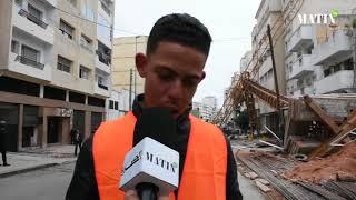Chute d'une grue à Casablanca : le témoignage poignant d'un ouvrier du chantier